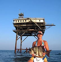 Virginia 39 s chesapeake light tower virginia beach charter for Lynnhaven inlet fishing report