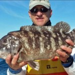 Jan 11, Wes Blow fished for tautog on one of the ocean wrecks. They kept a 3-man limit of tog, all over 20 inches long, with the largest at 9 pounds. They caught a total of 25 tautog and they also caught some sea bass that were released.